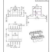 EFD15变压器骨架 贴片 卧式5+5 有配套磁芯销售