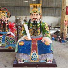 正圆木雕十大阎罗王生产厂家 香樟木雕刻十殿阎王爷神像厂家