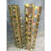 0760质量特棒的彩镀锌排水管道防爬刺 阻爬刺钉 价格低廉 子禄