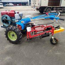 小型农业机械 手扶车带动花生收获机 自动铺放整齐不伤果