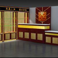 专业设计定做中草药烤漆展示柜 参茸烤漆展柜订做湖州保健品玻璃展台定制