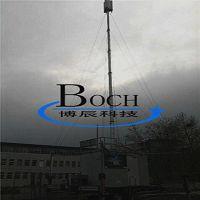 北京厂家直销18米方舱天线信号塔 博辰双锁型升降杆系列
