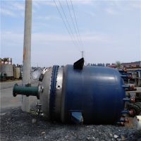 山东梁山正点二手设备出售键尔达3000L不锈钢反应釜,内盘管外加套防爆电加热