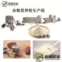 林阳双螺杆膨化营养粉生产线五谷杂粮冲泡粉生产设备