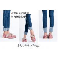美国JeffreyCampbell一字带珍珠水钻小香风单鞋低跟鞋女2018新款