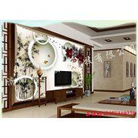 集成墙板背景墙 护墙板全屋定制 竹木纤维背景墙uv平板打印机