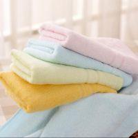 厂家直销中国结竹纤维毛巾素色缎档擦脸巾成人毛巾礼品福利毛巾
