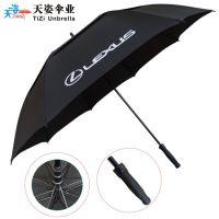 深圳雨伞厂现货供应高档商务高尔夫伞 双层高尔夫伞 广告伞