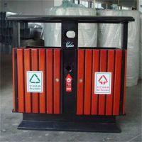 献县鑫建供应户外钢木垃圾桶小区 街道 公园 物业果皮箱 垃圾筒双桶