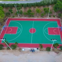 社区篮球场Q235低碳钢灯杆 球场有圆形、锥形灯杆 柏克灯具定做