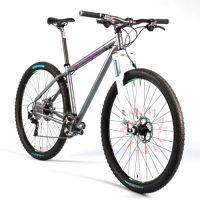 旅行钛合金山地自行车,轻便耐用,本色出行,定制钛合金车架