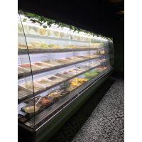 【不锈钢带喷雾风幕柜厂家】火锅店专用喷雾加湿菜品柜