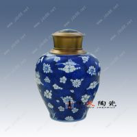 千火陶瓷 景德镇青花手绘陶瓷罐