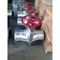 上海沪宣 GJ41X-10L DN100 精铸铝管夹阀