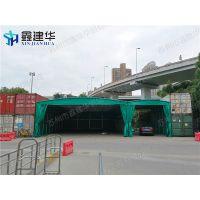 南通海门上海临时仓库篷 停车棚 阻燃涂层帆布 大型仓储 厂家直销