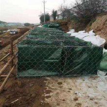 成都柔性石笼网 格宾网生产 镀锌覆塑网笼