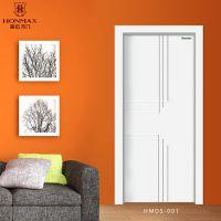 白色简约卧室门 时尚室内门 豪迈木门