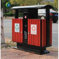 景区双桶户外钢木分类垃圾桶户外钢木分类垃圾箱果皮箱厂家批发
