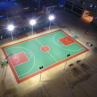 篮球场6米双头灯杆报价 选LED球场灯符合市场需求 江门篮球场LED灯光安装