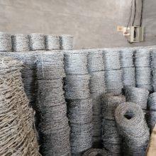 西安户外防护用拧编刺绳一米价格&12*14双股镀锌刺绳一吨出多少米?