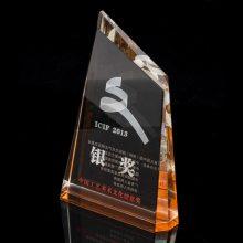 郑州水晶奖牌制作,创意文化艺术节纪念品,企业年会奖杯定制,水晶帆船奖杯