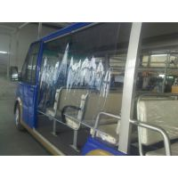 厂家直销电动观光车自卷式透明遮雨帘配套柳州五菱