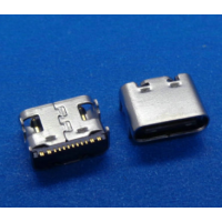 usb 3.1 type-c母座 单排16P SMT四脚插板DIP