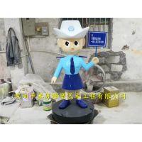 供应仿真警察人物雕塑 卡通人物雕塑 户外景观装饰摆件
