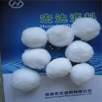 宏达公司厂家直纤维球滤料,改性纤维球滤料