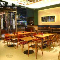 西餐厅实木椅子西餐厅实木桌椅定做生产厂家