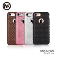 正品WK潮牌创意iPhone7手机壳苹果7plus防摔磁吸格纹宾利手机套