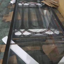 现代艺术玫瑰金铝板雕刻屏风,铝艺镂空镀金花格