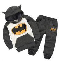 一件代发外贸童装 2018秋冬新款男童蝙蝠卡通套装 厂家直销