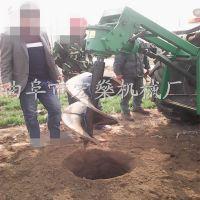 大型植树打孔机 钻孔树坑机 四轮拖拉机带动挖坑机