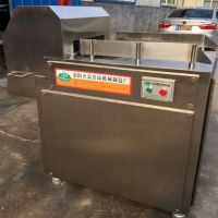 天嘉冻肉切块机 全自动不锈钢切块机 大型冷冻肉盘分割机