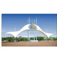 度假区膜结构膜伞羽毛球场遮阳棚PVDF广场张拉膜景观棚