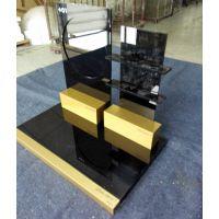 厂家生产亚克力展柜、有机玻璃展示架、化妆品道具、土豪金陈列架