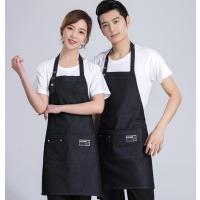 番禺区餐厅服务员工作服围裙定做-定做餐饮行业工作服围裙-款式多样