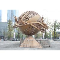 上海零爵雕塑不锈钢球型镂空景观制作玻璃钢雕塑