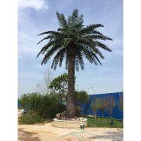仿真棕榈树摆放在学校路旁好看吗?放的稳不稳固呢?浩晟假大树材质好 做工精细 仿真度高