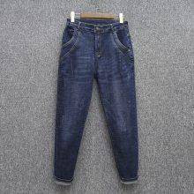 中山便宜牛仔裤批发市场韩版女士牛仔裤弹力小脚裤高腰牛仔裤批发