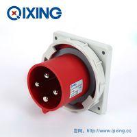 QIXING启星QX3656 4芯 63A IP67高端型工业暗装插头 3C认证