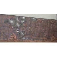 上海锻铜浮雕背景墙-铸铜浮雕壁画-铜板人物景观雕塑设计