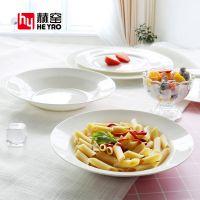 唐山赫窑 纯白釉上彩欧式牛排盘子西餐具盘套装餐具陶瓷盘8/10寸骨瓷圆平盘