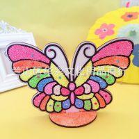 雪花泥EVA立体木板画彩泥画魔色板珍珠泥儿童益智手工玩具可选图