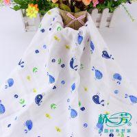 桥一芳婴儿浴巾纱布,秋冬被里布,100%棉双层印花纱布