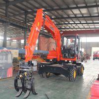 河南郑州小型挖掘机 抓木机 车间小型挖掘机z1