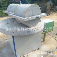 小石碾面粉机 家用手推石碾子 振德供应 小型石碾磨面机械