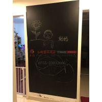 中山复古磁性大小黑板S双面立式黑板X菜单广告写字板