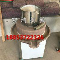 2018小型豆腐石磨机 豆浆石磨机价格 宏瑞家用电动豆浆机价格